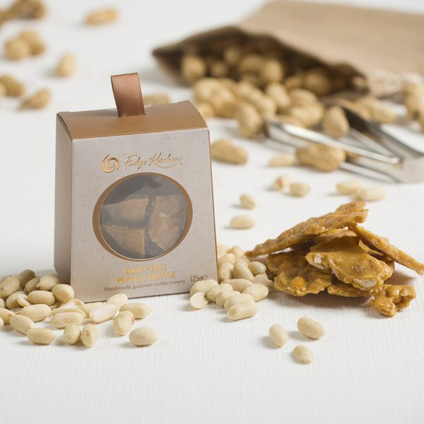 rock salted peanut brittle
