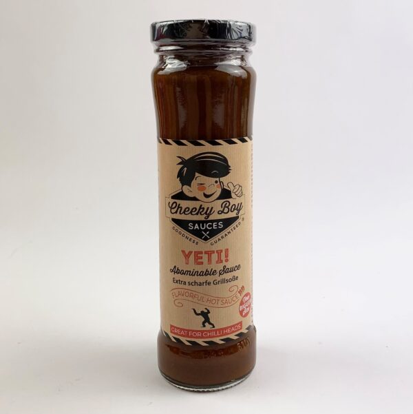 Cheeky boy yeti sauce
